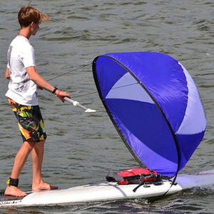 108*108cm Foldable Kayak Wind Sail Boat Wind Sail Paddle Board Sailing Canoe Rowing Boats Clear Window