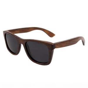 high-end bamboo sunglasses 2018 fashion wooden bamboo sun glasses popular new design bamboo frame glasses Polarized sunglasses UV400