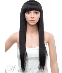 Pants Straight Black Beautiful Hair Fashion Cosplay Party Wig