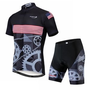 USA 2020 Men Cycling Jersey Summer Short Sleeve Set Maillot shorts Bicycle Clothes uniform Sportwear Shirt Clothing Suit