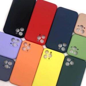 آيفون 11 12 12 برو SE 2 حالة فاخرة الأصلي سيليكون كامل حماية لينة غطاء ل فون x xr 11 xs ماكس 7 8 6 ثانية حالة الهاتف