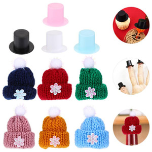 60 pcs Craft Accessories Colorful Ornaments Knitted Hats for Art Crafts DIY