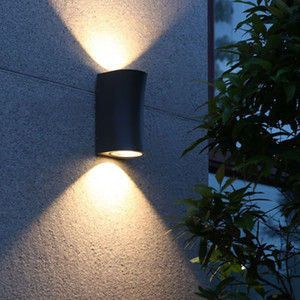 Up down 10w black wall lamp ,for porch outdoor wall light waterproof 100 * 200mm garden Round square aluminum ip65 KHY-W200