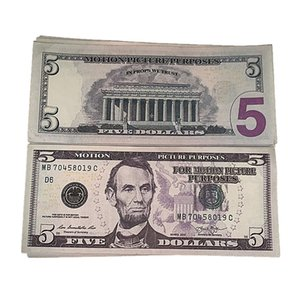 Billet 6d Party 5 Bar Dollar Money Play Movie Ueanj Faux Toys Children's Prop Fake Nightculb 100pcs pack Opcdf
