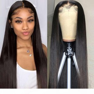 YYong 1X6 Deep Part Topline 8-32inch HD Transparent Lace Remy Brazilian Straight Human Hair Wig