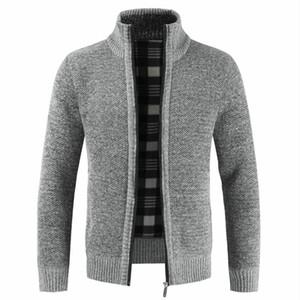 Mezclas de lana para hombres 2021 otoño invierno chaqueta delgada ajuste collar cremallera cremallera hombres sólido algodón grueso cálido