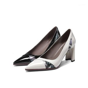 Oficina de bodas Zapatos de mujer puntiaguda Chunky Heel Fashion 2020 Nuevo estilo de alta calidad High Heels Party (5CM-8cm) puntiagudo TOE1