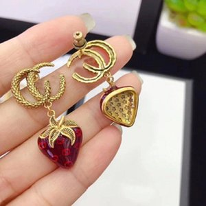 Shuang g Strawberry Fashion Drop Gel Seiko Earrings