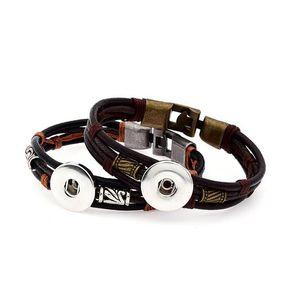 Vocheng Ingwer Snap 18mm Armband Kuh Leathe Freies Verschiffen PS0577