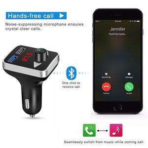 Car Bluetooth FM Transmitter Wireless Handsfree Audio Receiver Auto MP3 Player 2.1A Dual USB Fast Charger Car Accessories Wjjdz