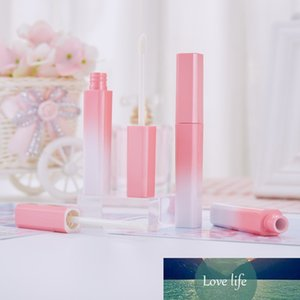 5 Pcs lot 3.5ml Gradient Pink Lip Gloss Tubes Refillable Bottles Lip Balm Containers Lipgloss Packaging Cosmetic Tool