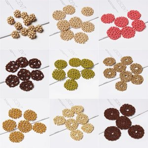 10pcs Handmade earring jewelry making charm pendant Accessories Weave round wood beads charm for diy Earring jewelry finding diy