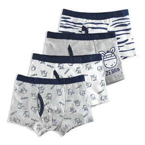 4 Pcs lot Cotton Shorts boys underwear Kids Underwear Boxer briefs Panties Cartoon Pattern Soft Children's Teenager 4-14y