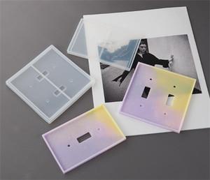 Moules en silicone en résine époxy Double trou Moule DIY Miroir Moule 2 PCS Suit 3D Chambre transparente Réutilisable Facile Démoulant Nouvelle arrivée 8NF O2