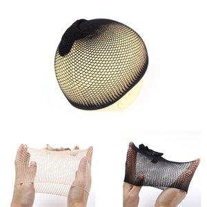 최고 판매 메쉬 머리망 양질 제직 블랙 가발은 신축성 탄성이 일단 가발 헤어 네트 도매 SWY qylzOj에서 오픈 캡