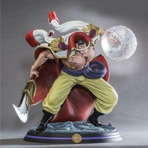 Anime ONE PIECE GK White Beard Edward Newgate Statue Recast Battle Ver 32cm PVC Model Action Figure Toys