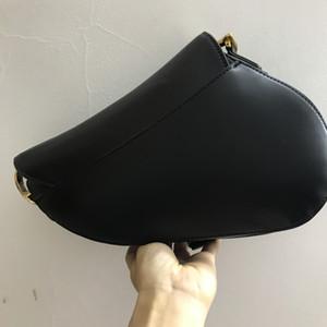 Classica borsa da sella borsa in vera pelle con borse a spalla con borse a spalla in metallo con borse a spalla in metallo Donne crossbody bagcowhide borse