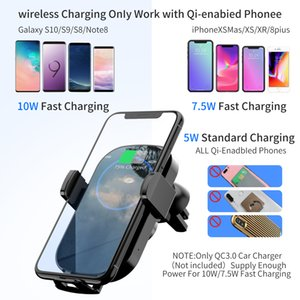 Wireless Car Charger Infrared Auto Clamp Fast Charging Car Phone Holder Mount for iPhone Huawei Samsung Smart Sensor