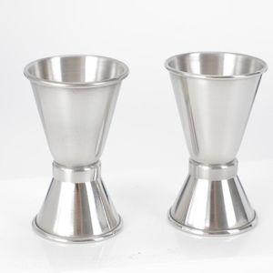 مزدوجة من جانب قياس كوب كوكتيل الخمور شريط قياس الكؤوس الفولاذ المقاوم للصدأ جيغر النادل مشروب خلاط الخمور قياس كأس YYS3427