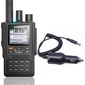 ABBREE AR-F8 Posizione GPS Condivisione di tutte le bande (136-520mHz) Frequenza / CTCSS Rilevamento Walkie Talkie Aggiungi Caricatore auto1