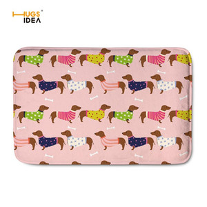 HUGSIDEA Home Decor Carpets for Living Room Creative Dachshund Pattern Flannel Mats Rugs Dog Lover Non-slip Alfombras Bathroom
