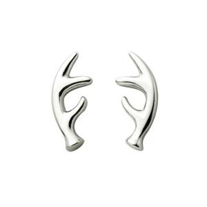 Punk Animal Metal Deer Horn Antler Earrings Women