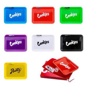 Печенье California PARTY MODE Glowtray Синий Красный светодиод Куки Роллинг Glow Tray Желтый Фиолетовый Runtz Упаковка бумажная коробка Роллинг-2 HWB706