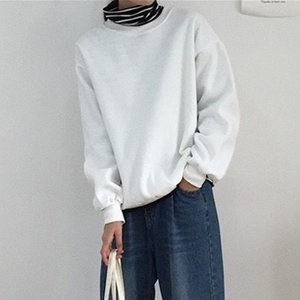 Essentials Sweatshirts Women Men Warm Fleece Pullovers Hoodie Black Gray Harajuku Tops Winter Spring Clothing for Female Male Q0116