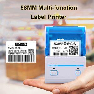 تسمية الطابعة 2 بوصة طابعة محمولة يده هاتف المحمول بلوتوث البسيطة الحرارية الباركود الملابس العلامة ملصق آلة الطباعة