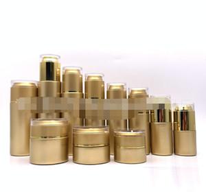 30 50 80ML Gold Cosmetic Lotion Perfume Pump Dispenser Bottle Fine Mist Spray Bottle 20 30ML Gold Glass Cream Jars Cosmetic