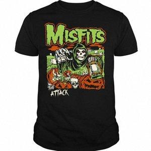 Punk Rock Band-T-Shirt Misfits The Attack T-Shirt qqtC #