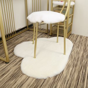 Soft Artificial cloud shape rabbit Sheepskin Rug Chair Cover Bedroom Mat Artificial Wool Warm Hairy Carpet child Area Rug