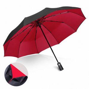 Große Doppel Anti-UV Sonnenschirm Regen Frauen Floding Automatische Sonnenschirm Männer Windschutz Sonnenschirme Schirme UBY031 4HIc #