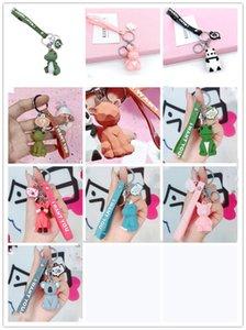 Factoryzvw3jewealry Женщины брелок динозавр мультфильм PVC смешной геометрический милый шарм сумка цепь автомобиля ключ кольцо аксессуары wy8