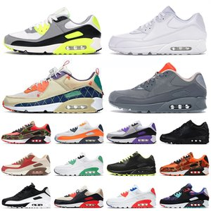 nike air max airmax 90 90s off white 2021 Top 90s Sport Running Shoes All White Moss Green Grey Trainers Orange Blue Camo Uomo Donna Off Tennis Sneakers