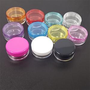 Frascos de plástico Cosméticos Vacío Ojo Cara Crema Crema Almacenamiento Redondo Caja Transparente Diversos Colores Venta Caliente 0 13JL F2