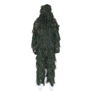 NEW-3D العالمي التمويه الدعاوى woodland الملابس قابل للتعديل حجم ghillie دعوى للصيد التمويه مجموعة أطقم
