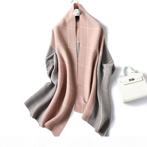 Hot Sale-Fashion New double-sided two-color cashmere feel women ladies scarf autumn and winter Scarf Shawls long Wraps Pashmina Accessories