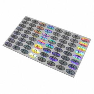 1.1x2cm ellittiche RoHs Adesivi laser del CE per il prodotto di identificazione autoadesivo ologramma con appiccicoso Label Cards Online Cheap BBA1 Birth #