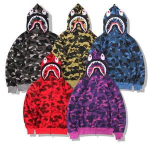 Camo Uomo Donna moda giacche con cappuccio causale Giacche a maniche lunghe con cappuccio maglione unisex di Hip Hop Streetwear Primavera Autunno Inverno S01