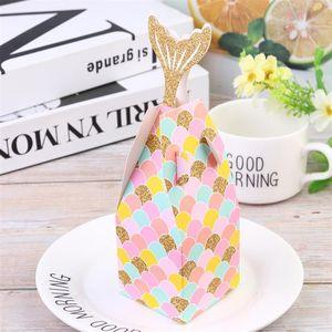 50pcs mariage Candy Box style européen sirène Bonbonnière Emballage Cas Conteneur fête de mariage anniversaire
