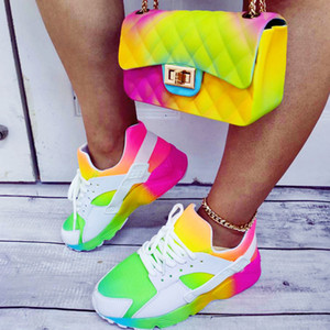 Gigifox 2020 Ins Hot Große Größe 43 Mode Atmungsaktive Wanderturnschuhe Gemütliche Freizeit Schuhe Taschen auf Verkauf Spiel Frauen Wohnungen C1103