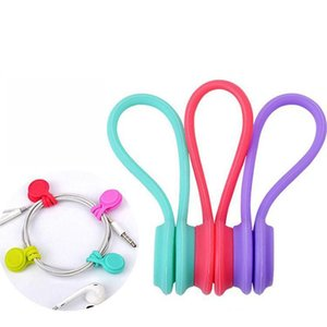 USB Cable Holder Strap Magnetic Organizer Gather Clips Bookmark keychain Multifunction Management Silicone Earphone Cord Winder