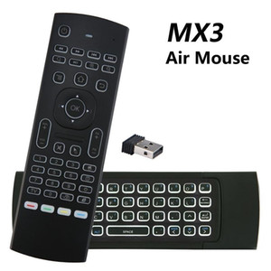 MX3 Backlit Air Mouse T3 Smart Voice Remote Control MX3L 2.4G IR Learning Wireless Keyboard For Android TV Box