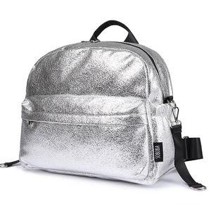 Soboba Texturizado Silver Drava Saco Fashionable Grande Capacidade Bolsas De Fralda Maternidade Maternidade Sacos / Backpack Y200107