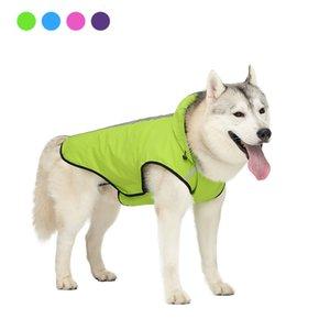 Dog Pet Waterproof Jacket Dog Verão Vest Raincoat reflexivos Pet Exteriores Roupa Small Medium Large Jacket Cães Pet Ropa Pará
