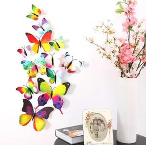 Butterfly Wall Stickers Wall Decor Murals 3D Magnet Butterflies DIY Art Decals Home Kids Rooms Decoration 12pcs lot