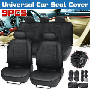 Universial Car Seat Cover Protector Front Rear PU Leather Breathable Waterproof Winter for 5 Seat Car Vehicle SUV Trunk RV