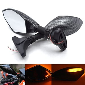 Universal Motorcycle Side Rearview Mirror with LED Turn Signal for Honda CBR600RR CBR900RR CBR929RR CBR954RR RVT1000R CBR1000RR