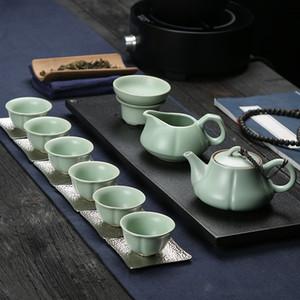 Ru Ware Teaware Set Vintage Teaware personnalisé Teaware cadeau Ru Ware Ware cadeau de la fin des Ming et au début des Qing Gift Set